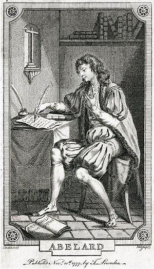 Eloisa to Abelard - Abelard neglecting his philosophical studies to write to Eloisa, designed by Edward Edwards (London 1777)