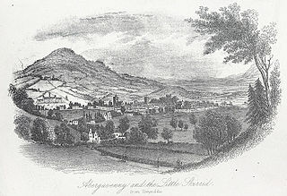 Abergavenny and the Little Skirrid, from Llwynddu