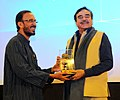 Actor Shatrugan Sinha being felicitated at the 'In Conversation Session', during the 47th International Film Festival of India (IFFI-2016), in Panaji, Goa on November 28, 2016.jpg