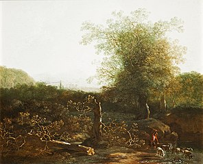 Wooded Landscape with a Ford