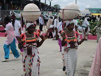 Adamawa State - Dancers of Adamawa state in their cultural adornment