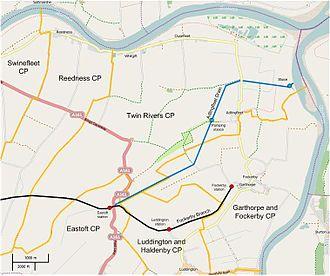 Adlingfleet - Most of the Adlingfleet Drain is in the Twin Rivers Civil Parish.