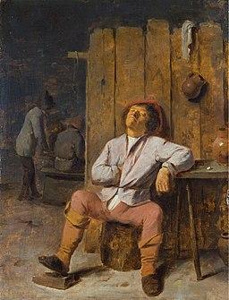 Adriaen Brouwer - A Boor Asleep