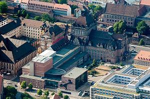 Staatstheater Nürnberg - Aerial of Schauspielhaus and Opernhaus