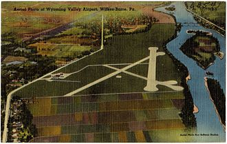 Wilkes-Barre Wyoming Valley Airport - Image: Aerial photo of Wyoming Valley Airport, Wilkes Barre, Pa (63541)