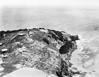 Aerial view of Cape Moreton lighthouse and surrounding buildings 1950.jpg