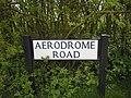 Aerodrome Road sign - geograph.org.uk - 1246442.jpg
