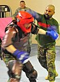 Afghan National Army Air Corps soldiers in the air base defense course practice their hand-to-hand combat skills. (4658923539).jpg