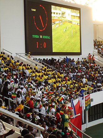 Senegal national football team - Senegalese fans at the 2008 Africa Cup of Nations against Tunisia.