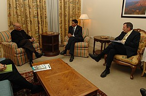 Ashraf Ghani - President Ghani with Rajiv Shah and Karl W. Eikenberry