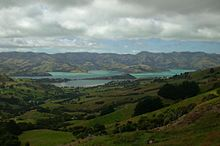 View of Port Louis-Philippe, the oldest French colony in the South Pacific, referred to nowadays by its indigenous name Akaroa (Source: Wikimedia)