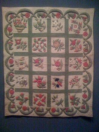 Baltimore album quilts - Image: Album Crib Quilt
