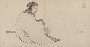 Lü Dongbin - Zhang Lu's painting of Lü Dongbin, early 16th century