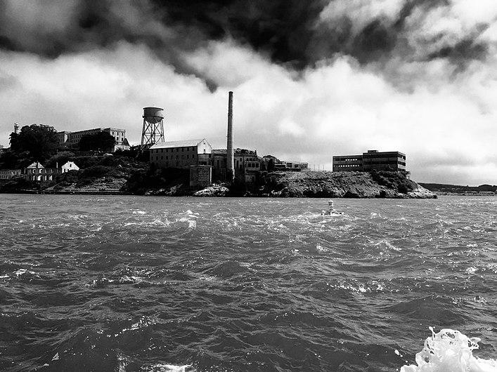 Alcatraz Island in Black & White.jpg