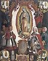 Alegoría de la declaración pontifica del patronato Guadalupano sobre la Nueva España, anónimo novohispano, S. XVIII.jpg