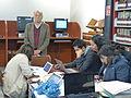 Alejandro Pelayo, director de la Cineteca Nacional, durante el Editatón 'Wikipedia ama el cine' 04.JPG