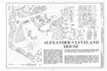 Alexander-Cleveland Farm, County Road 238, Ruckersville, Elbert County, GA HABS GA,53-RUCK.V,1- (sheet 1 of 6).png