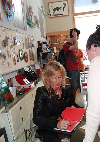 Alison Jackson - March 2017: Alison Jackson signing her book after lecturing at the Haifa Museum of Art