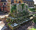 All Hallows Church Tottenham London England - churchyard chest tomb overgrown 12.jpg