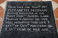 All Saints Church Elizabeth Masham floor slab High Laver Essex England.jpg