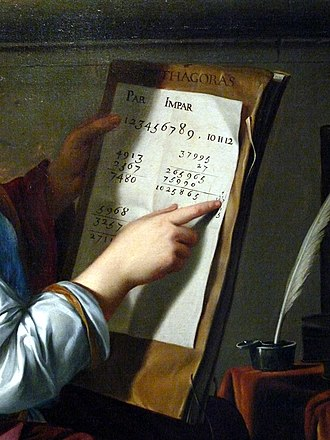 Detail of Laurent de La Hyre's Allegory of Arithmetic, c. 1650 Allegory of Arithmetic - detail.JPG