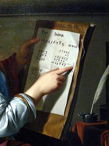 Allegory of arithmetic, by Laurent de La Hyre, ca 1650