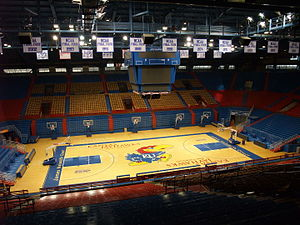 Allen Fieldhouse - Interior of Allen Fieldhouse