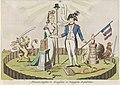 Alliantie met Frankrijk, 1795 Alliantie tusschen de Franschen en Bataafsche Republiken (titel op object), RP-P-1911-581.jpg