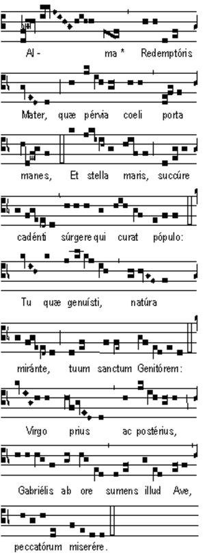 Alma Redemptoris Mater - Image: Alma redemptoris mater