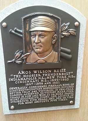Amos Rusie - Plaque of Amos Rusie at the Baseball Hall of Fame