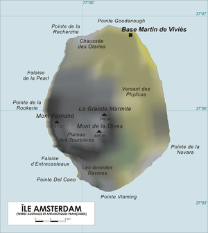 Île Amsterdam - Map of Île Amsterdam.