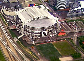 Belgium–Netherlands 2018 FIFA World Cup bid - Image: Amsterdam Arena Roof Closed