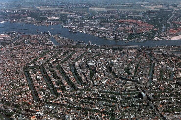 Amsterdam airphoto