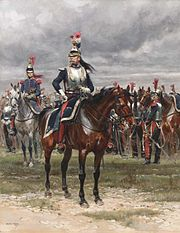 An Officer of the Cuirassiers- by Edouard Detaille