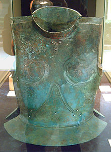 Photograph of an archaic Greek cuirass