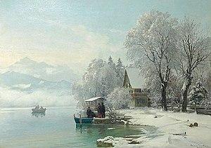 Anders Andersen-Lundby - Anders Andersen-Lundby, Winter at the lake, 1887