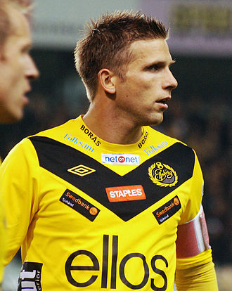 Anders Svensson (footballer, born 1976) - Svensson playing for Elfsborg in 2012