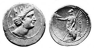Andragoras (Seleucid satrap) - Image: Andragoras Tetradrachm