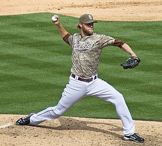 Andrew Cashner - Cashner pitching for the San Diego Padres in 2012
