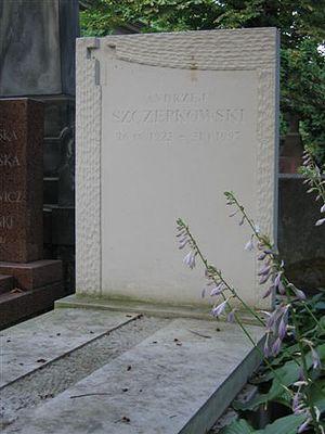 Nagrobek Andrzeja Szczepkowskiego na Cmentarzu Powązkowskim, Warszawa, 8 lipca 2006 r.