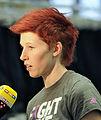 Anja Huber bei der Olympia-Einkleidung Erding 2014 (Martin Rulsch) 01.jpg