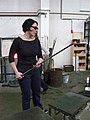 Anne Gant glassblower, working at Vrij Glas studio in Zaandam, The Netherlands.jpg