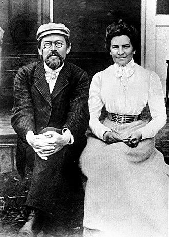 Чехов с Ольгой Книппер (1901)