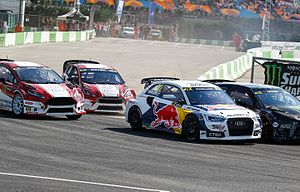 2015 World RX of Turkey - Liam Doran, Anton Marklund, Manfred Stohl and Max Pucher