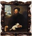 Antonio sacchiense, ritratto di gentiluomo con cagnolino, 1530, 01.JPG
