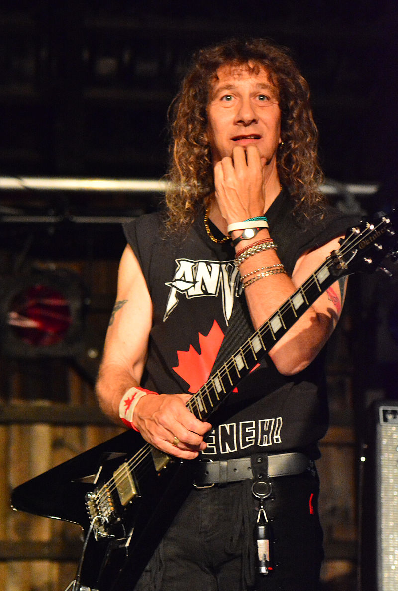 Anvil - Steve %E2%80%9ELips%E2%80%9C Kudlow %E2%80%93 Headbangers Open Air 2014 01.jpg