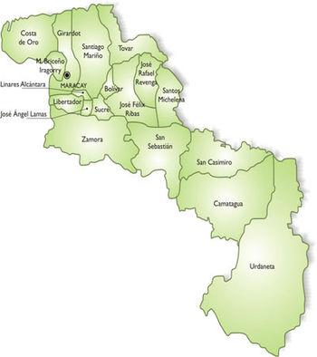 Aragua mapa municipal