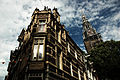 Architecture of Amsterdam, Munttoren clock tower (background). Amsterdam, Netherlands, Northern Europe.jpg