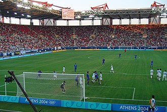 Football at the 2004 Summer Olympics - Image: Argentina Vs Italy 3 0 2004 Olympics Athens