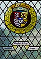 Arms of Archibald Douglas, Earl of Angus, on stained glass window, Stirling Castle.jpg